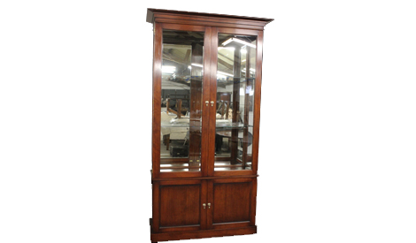 Touchwood UK BK06 China Glazed Cabinet with Glass Shelves