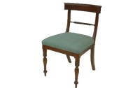 CH09 Mahogany Rope Back Dining Chair