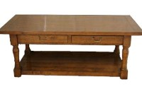 CT09 Two Drawer Pot Board Coffee Table