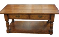 CT14 Two Drawer Turned Leg Coffee Table