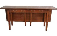 S14 Drop Leaf Server with Two Drawers