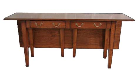 Touchwood UK S14 Drop Leaf Server with Two Drawers