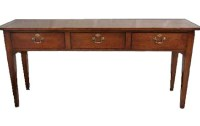 S16 Three Drawer Tapered Leg Server