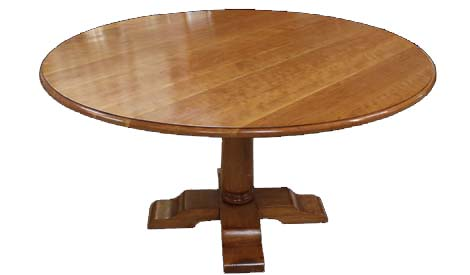 Touchwood UK T08 Round Crossover Pedestal Extending Dining Table