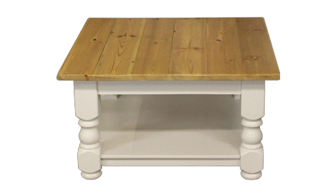 Touchwood UK WCT07 Kettleburgh Turned Leg Pot Board Coffee Table